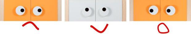 Uchwyty w kształcie oczu